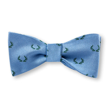 The Antler Bow Tie – Blue with Forrest