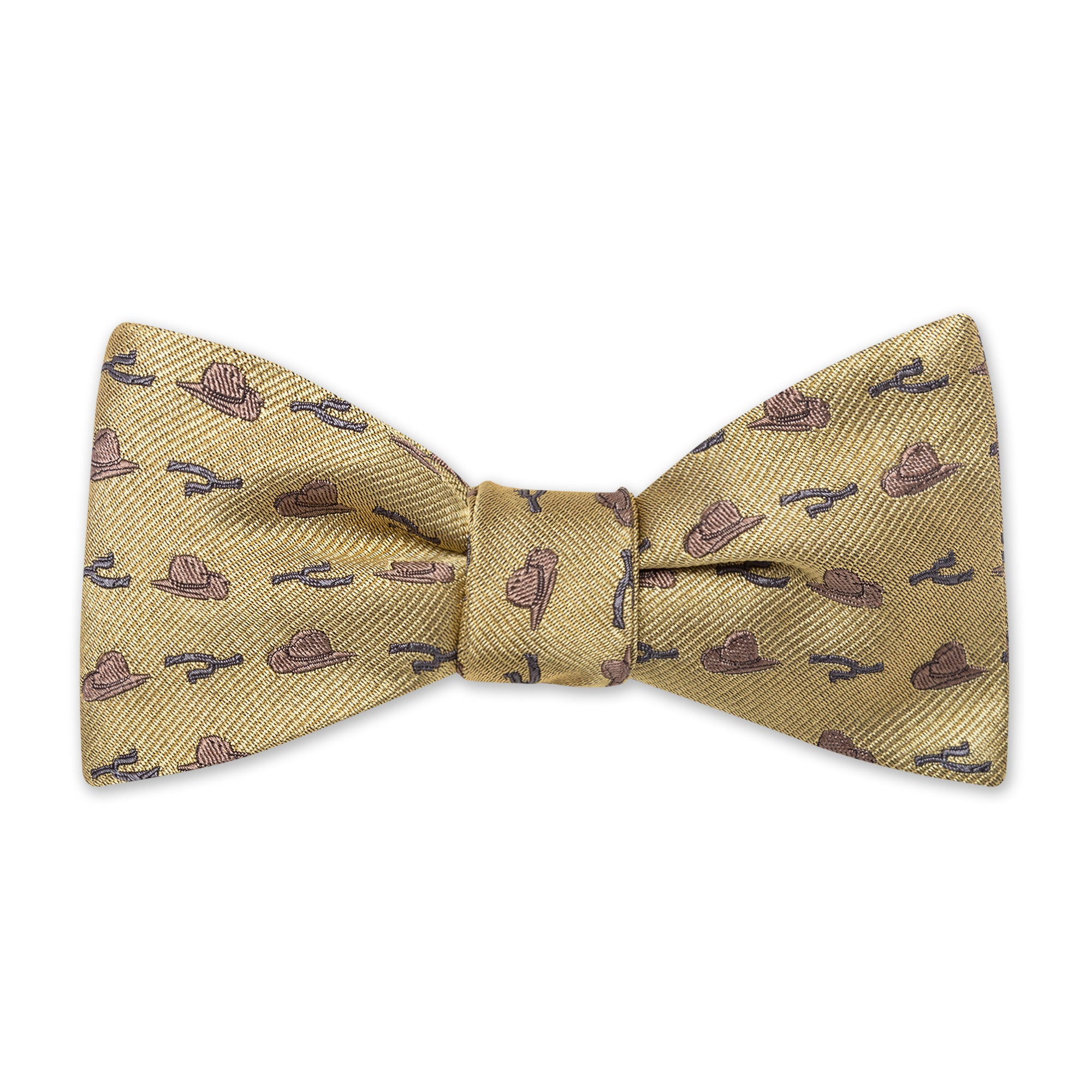 The Hat & Spur Bow Tie - Gold
