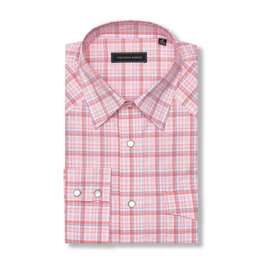The Jackson Pearl Snap in Pink/Orange
