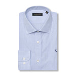 The Rendezvous Dress Shirt - Blue & Navy Windowpane