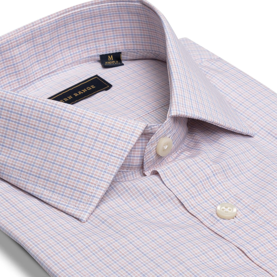 The Rendezvous Dress Shirt in Orange/Blue