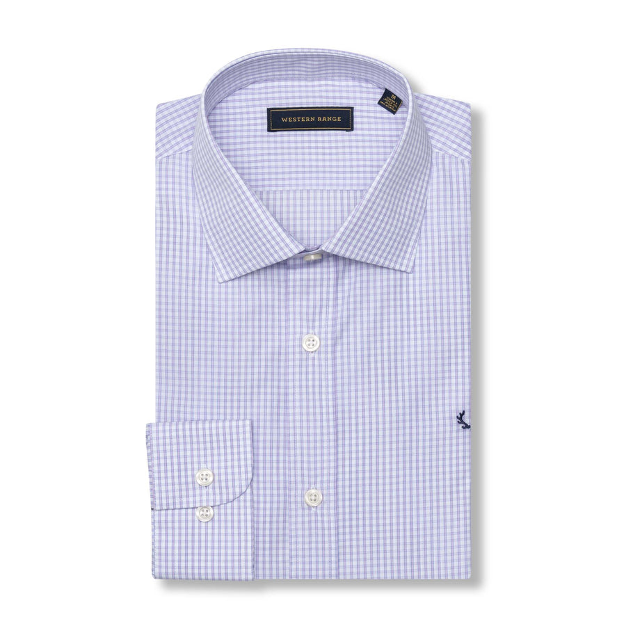 The Rendezvous Dress Shirt in Purple/White