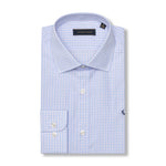 The Rendezvous Dress Shirt - Sky Blue & Pink Check