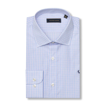 The Rendezvous Dress Shirt in Sky Blue/Pink