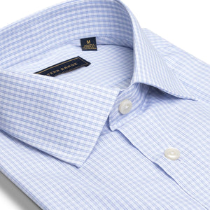 The Rendezvous Dress Shirt - White & Blue Check
