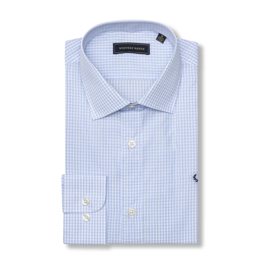 The Rendezvous Dress Shirt in White/Blue