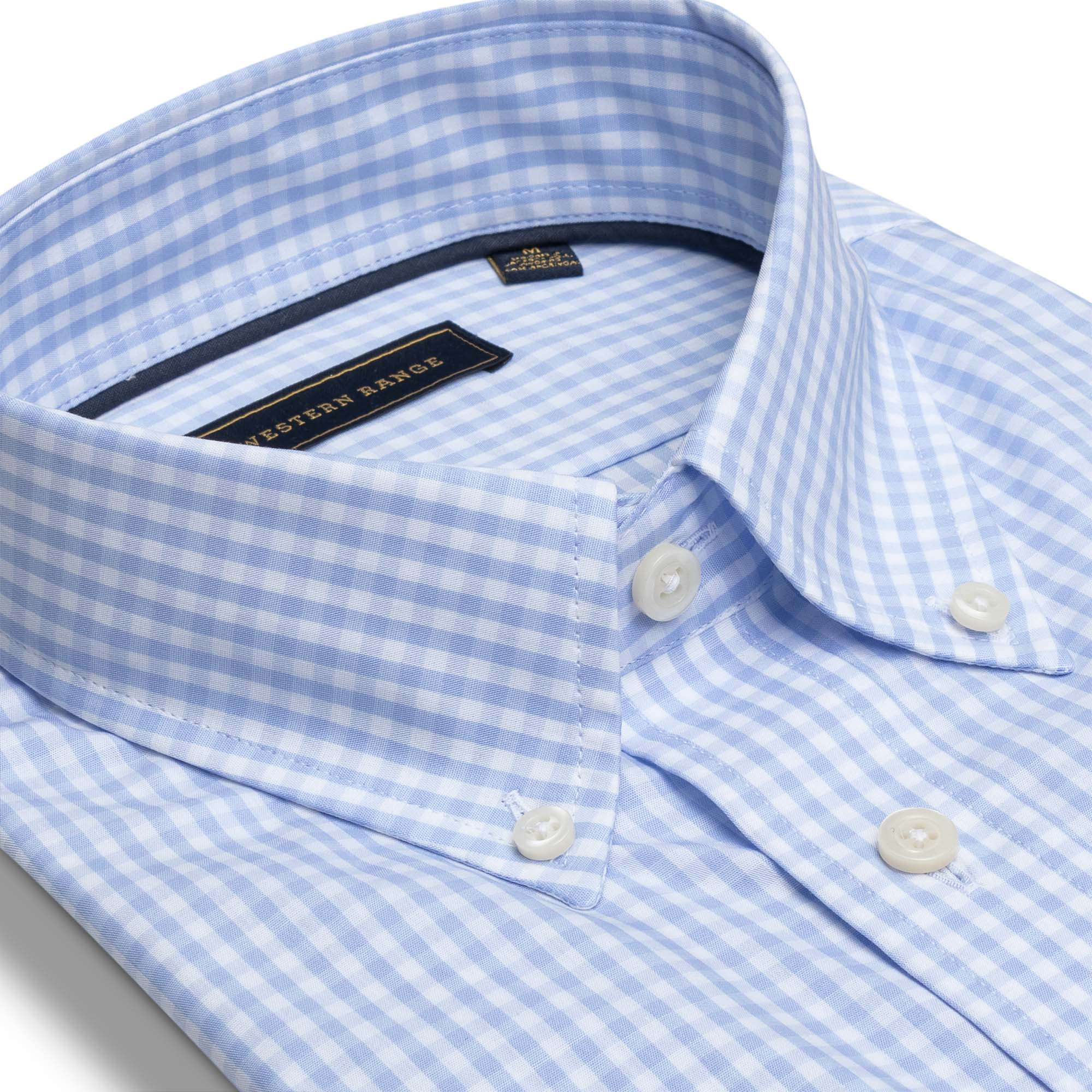 The Snake River Sport Shirt - Light Blue Gingham