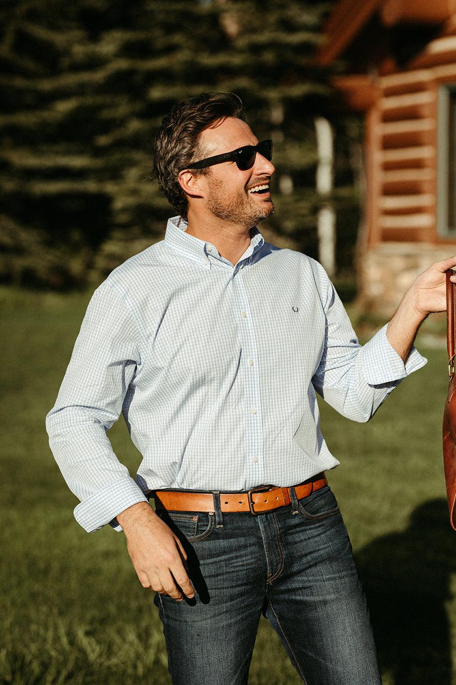 The Snake River Sport Shirt in Light Blue