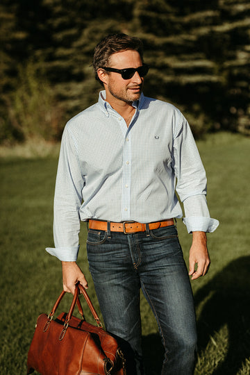 Snake River Sport Shirt in Light Blue