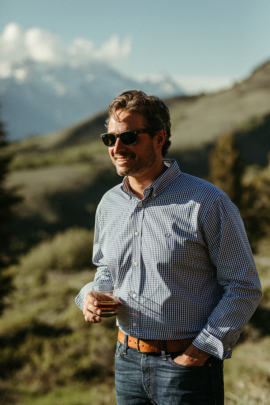 The Snake River Sport Shirt in Navy