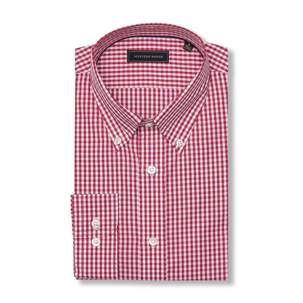 The Snake River Sport Shirt - Red Gingham