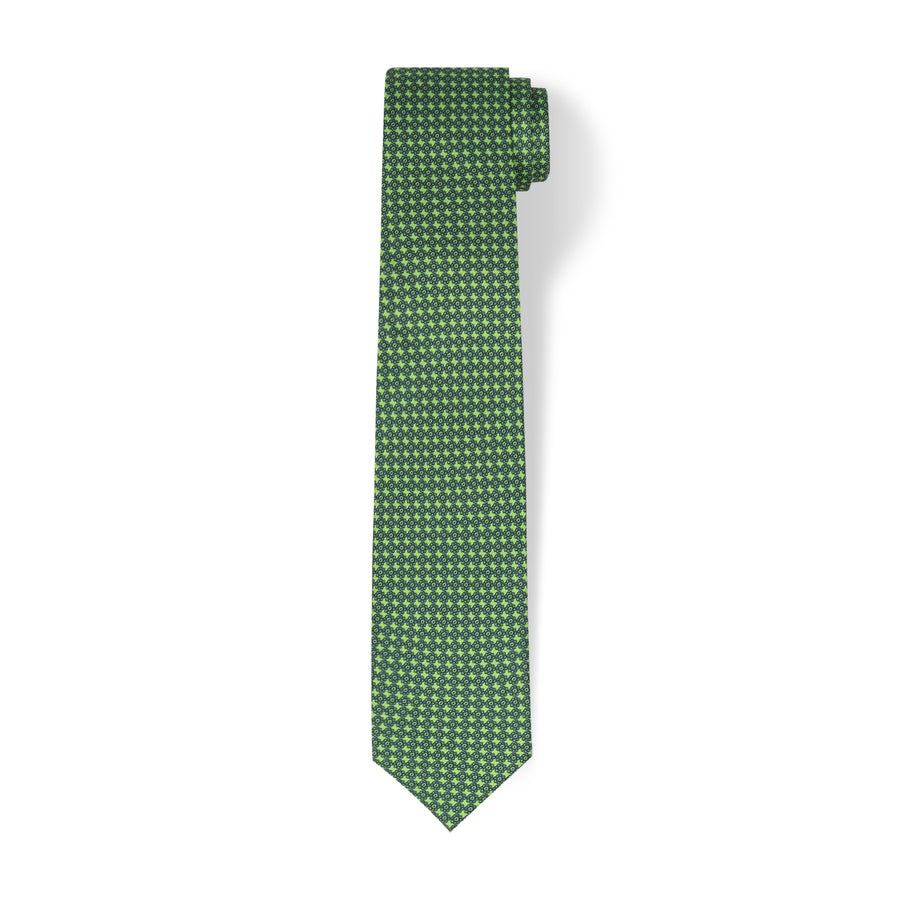 The Vintage Flower Tie - Grass