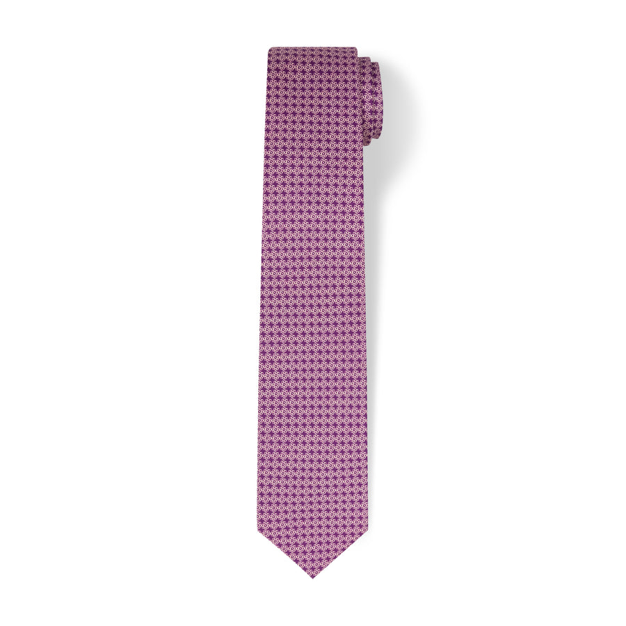 The Vintage Flower Tie - Plum