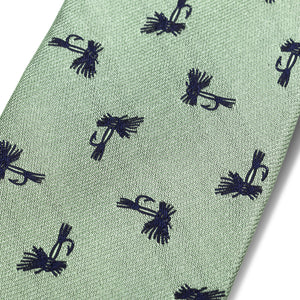 The Fly Tie - Sage with Navy