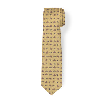 The Hat & Spur Tie - Gold