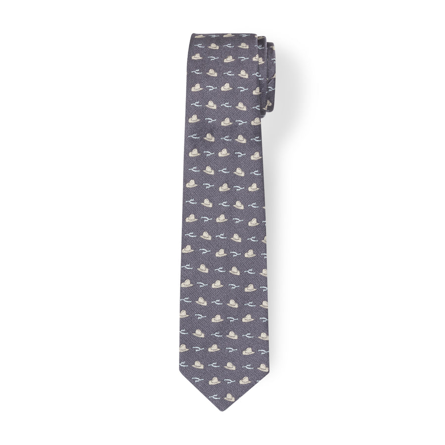 The Hat & Spur Tie - Gray