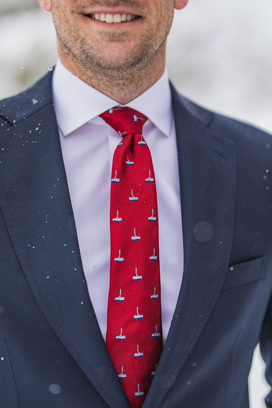 The Tram Tie - Deep Red