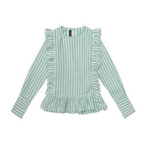 The Ashley Shirt - Green and White