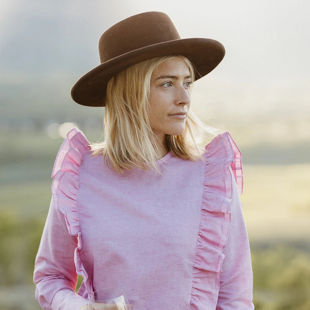 The Ashley Shirt - Pink Linen