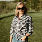 The Jenny Shirt -  Black Gingham