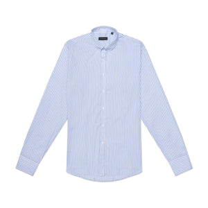 The Jenny Shirt - Light Blue & White Stripe
