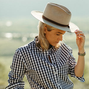 The Jenny Shirt - Navy Gingham