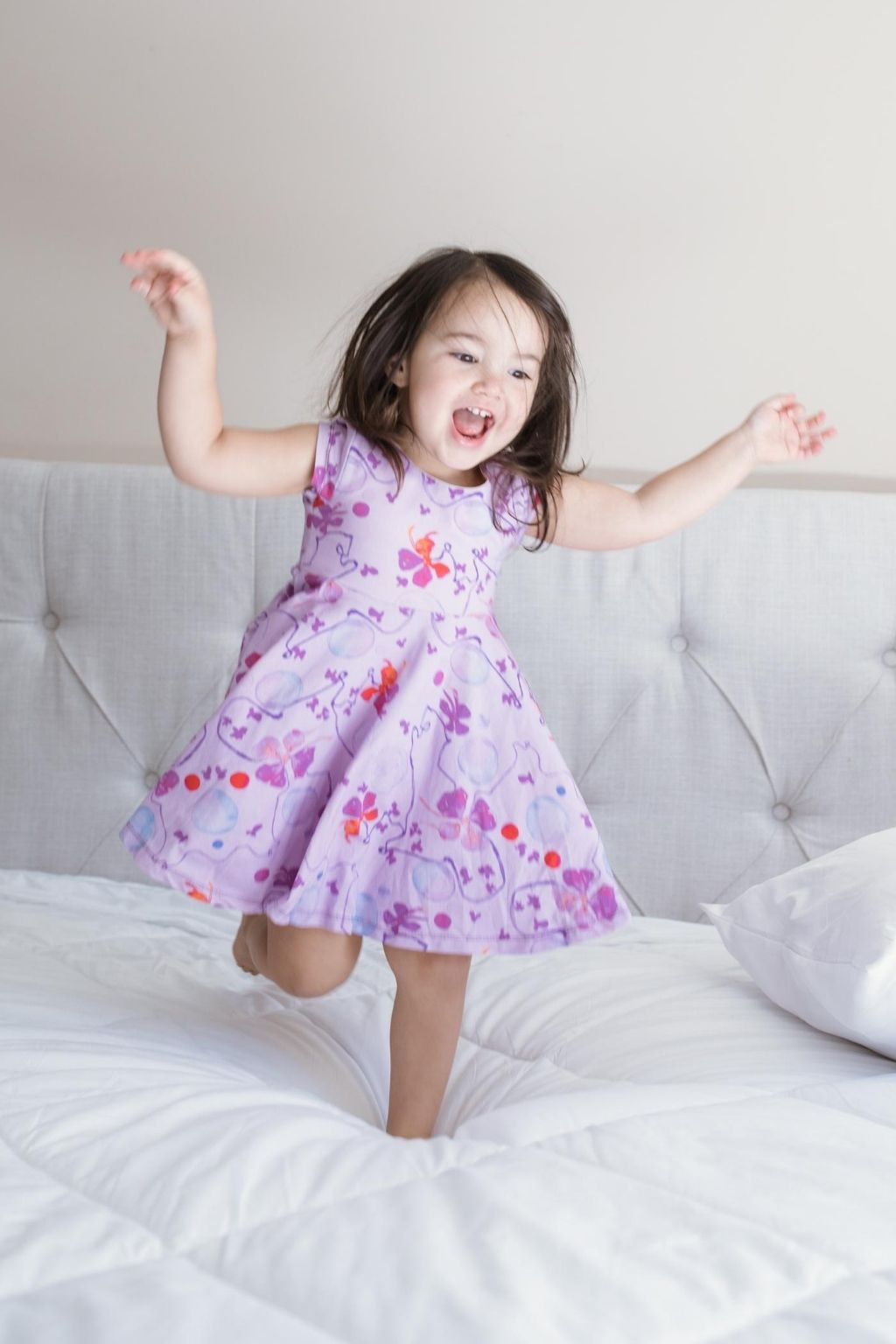 Blooming Vine Twirl Kids Dress