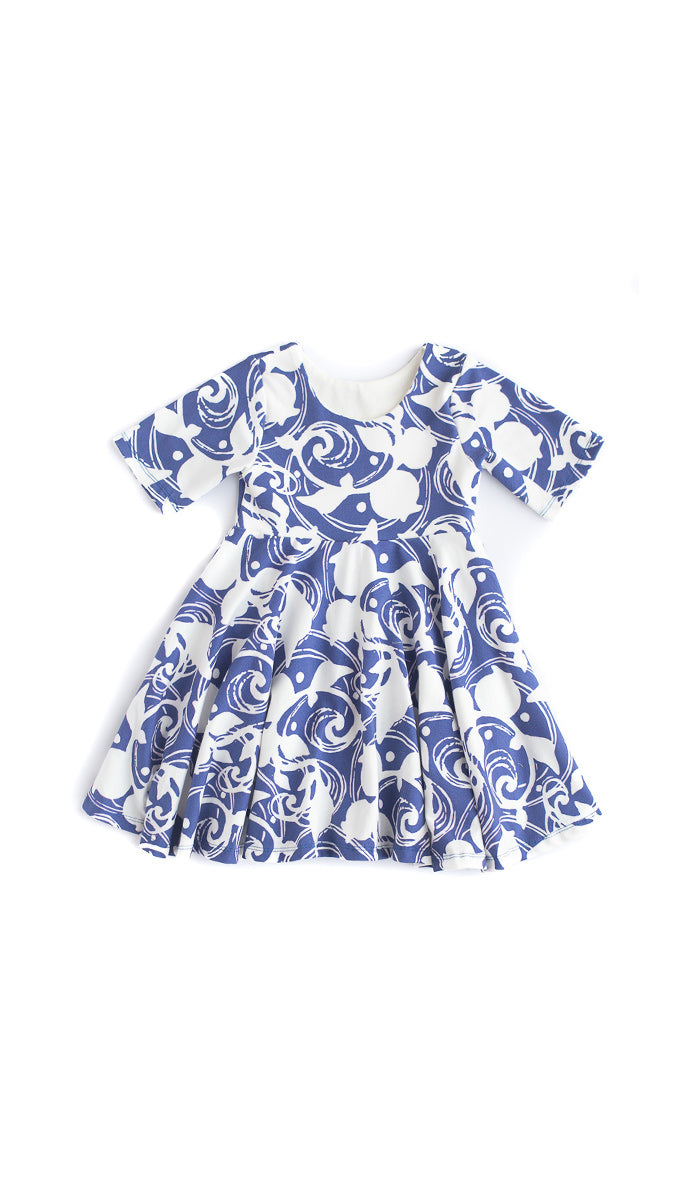 Blue Berries Twirl Dress