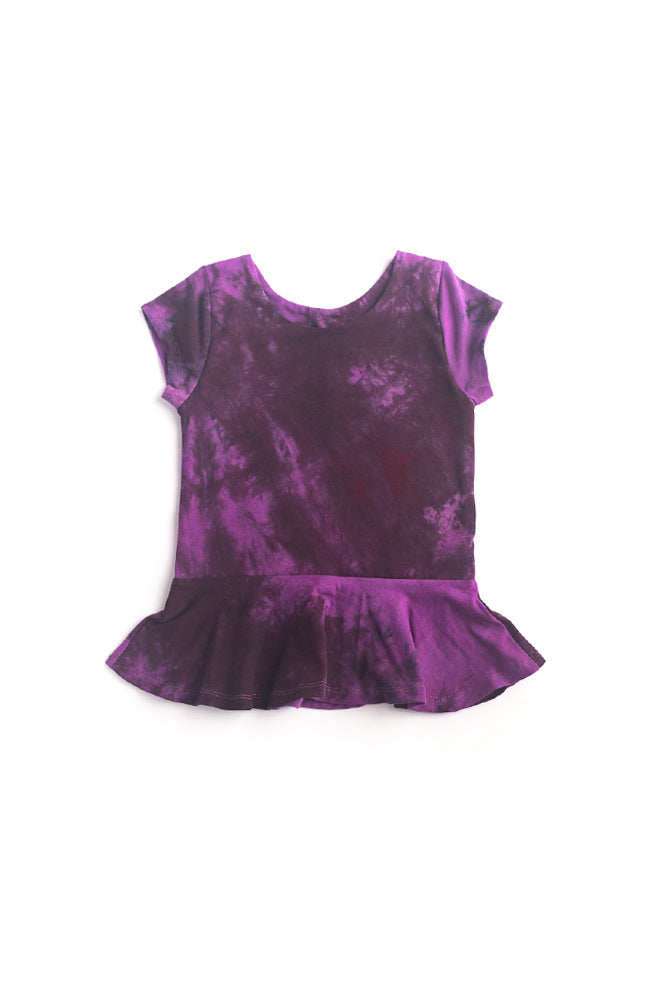 Black Plum Peplum Top