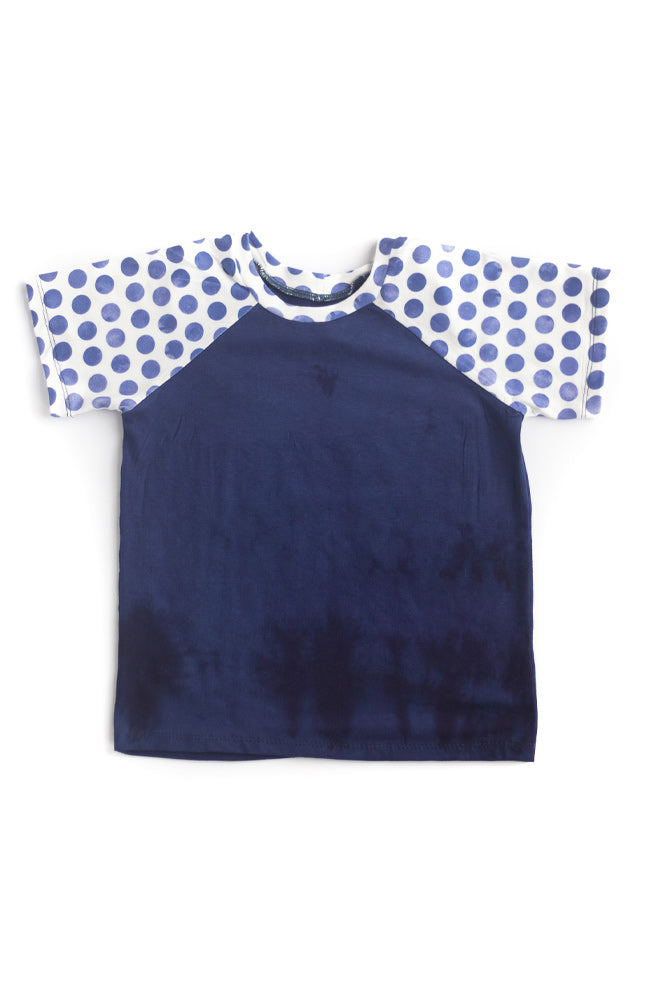 Blue Dot Raglan Tee