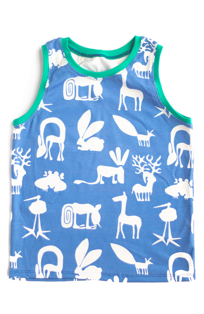 Blue Silly Beasts Tank Top
