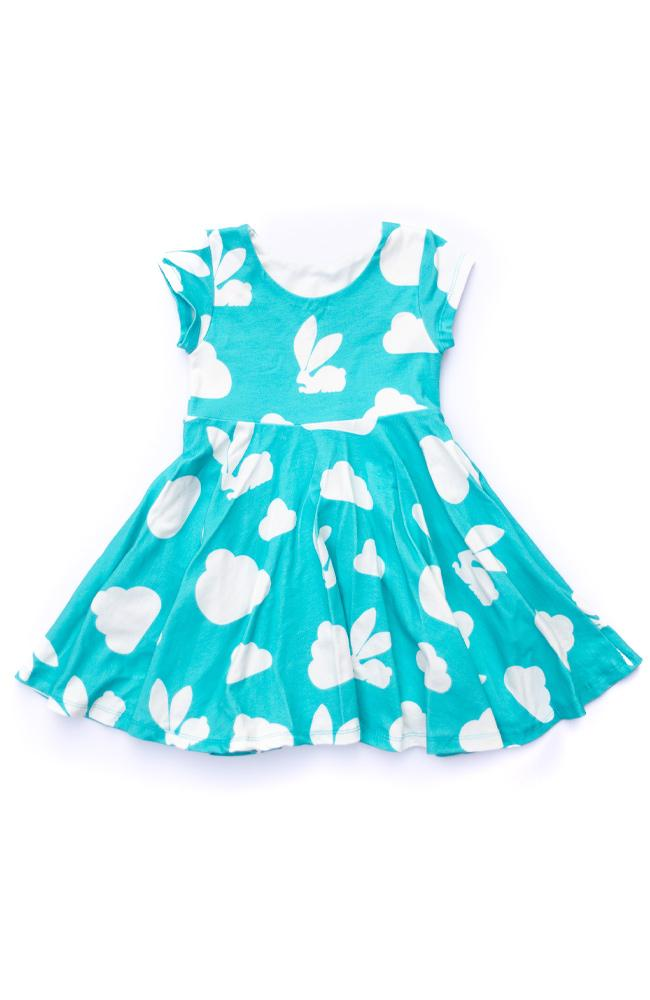 Bunny Cloud Twirl Kids Dress - Ready to Ship