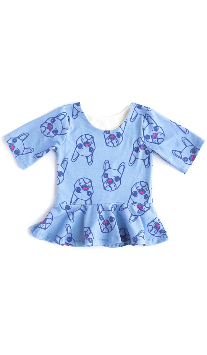 Dogs Peplum Top- Ready to Ship