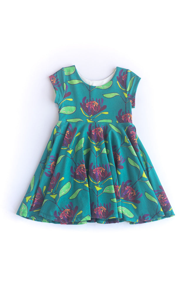 Strong Navy Twirl Kids Dress