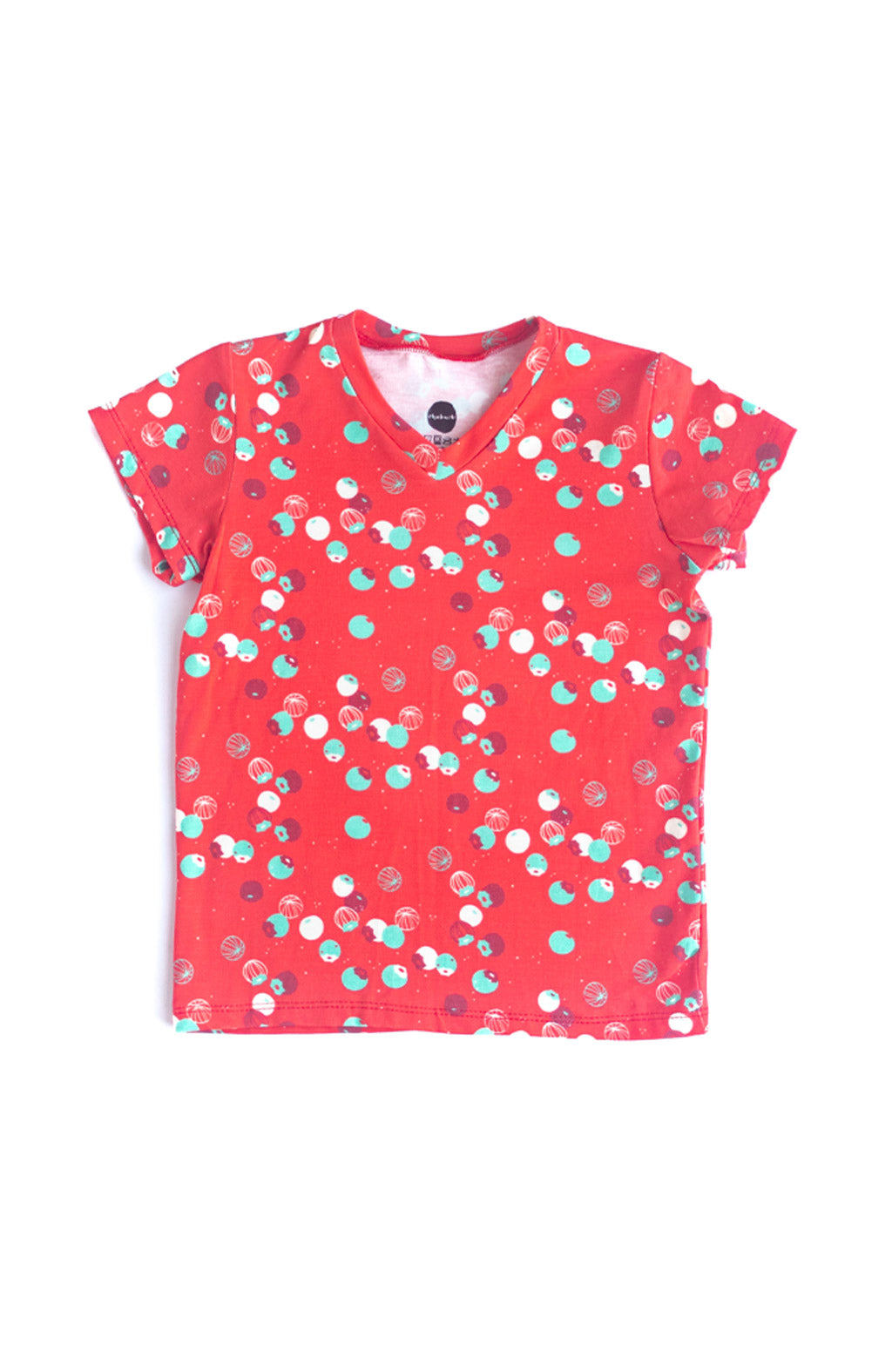 Tiny Berries Kids Tee in Ruby