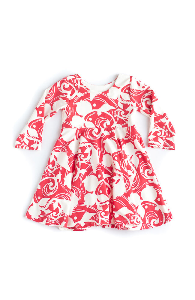Red Berries Twirl Dress- Ready to Ship