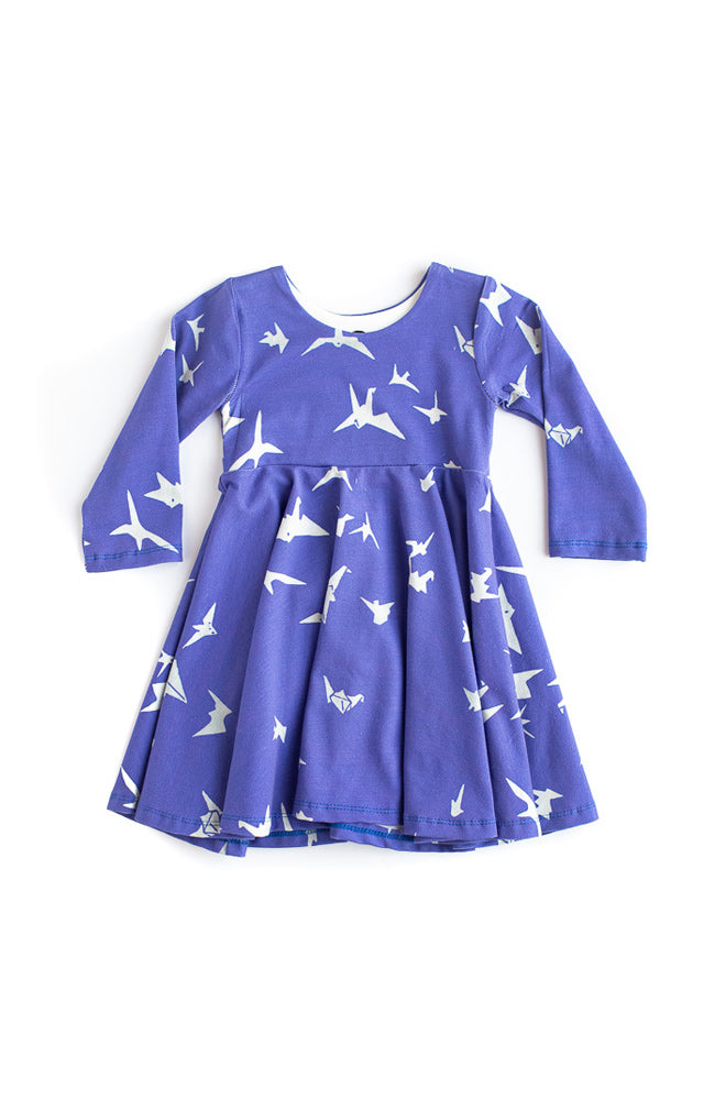 Green Silly Beasts Twirl Dress- Ready to Ship