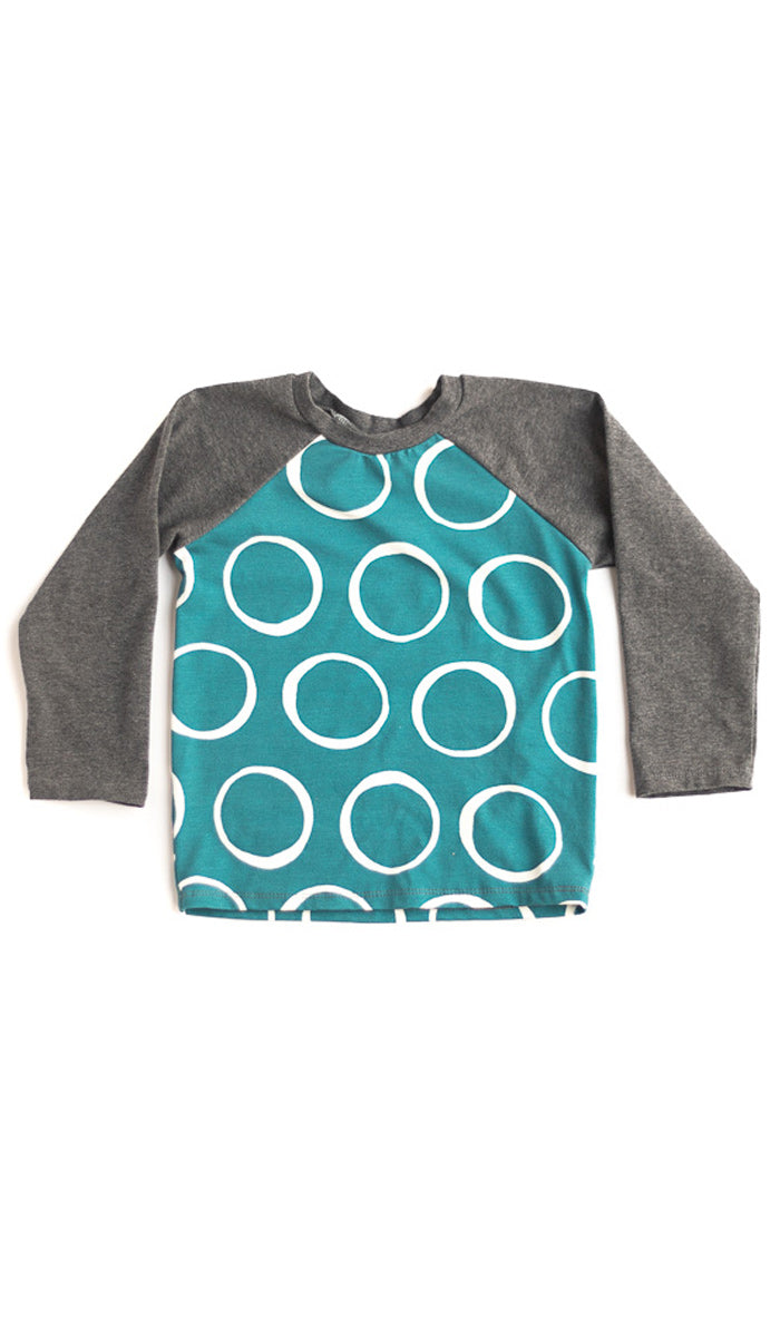 Ring Polka Dot Raglan Tee