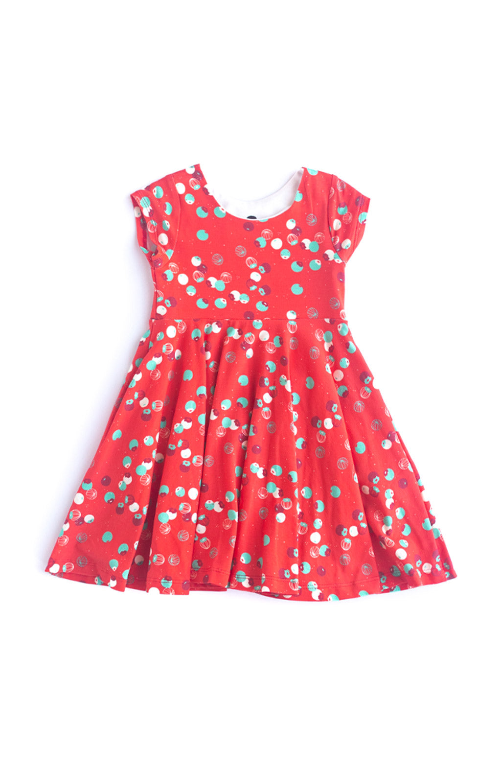 Tiny Berries Kids Twirl Dress in Ruby