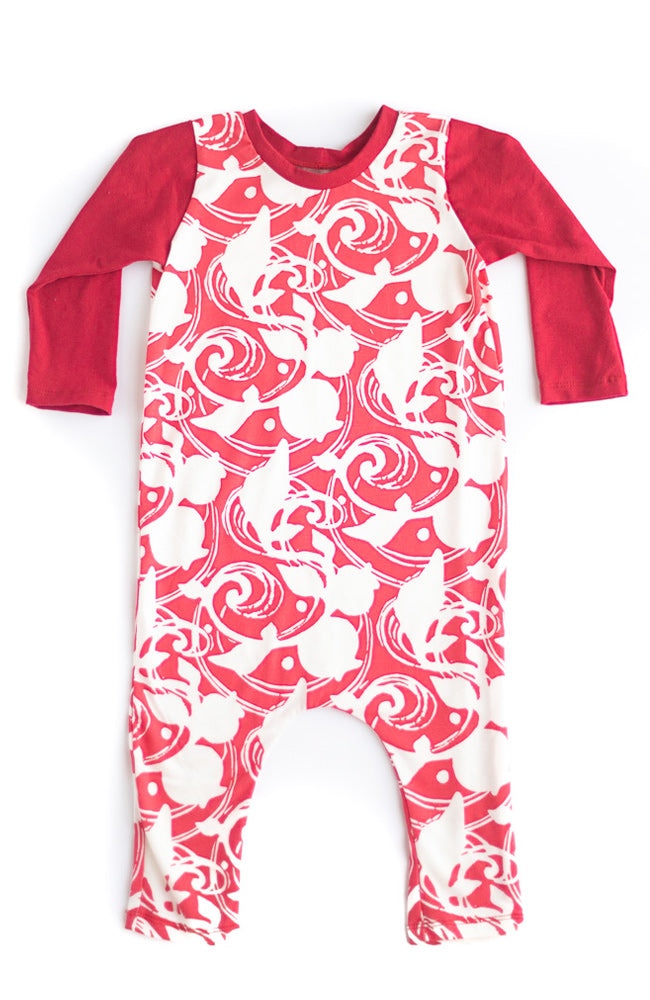 Red Berries Romper- Ready to Ship