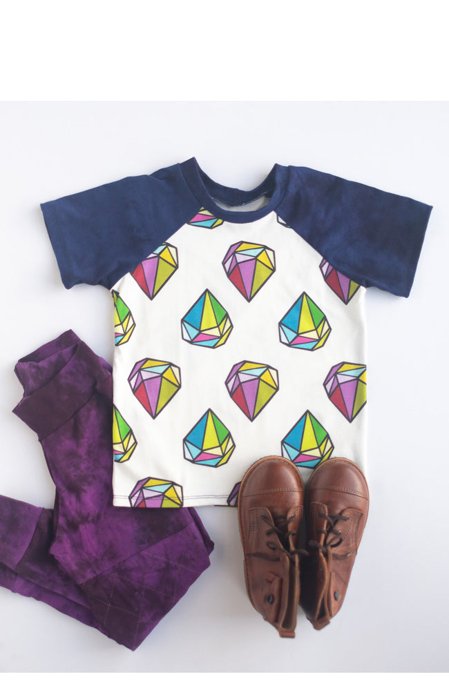 Big Diamonds Raglan Tee