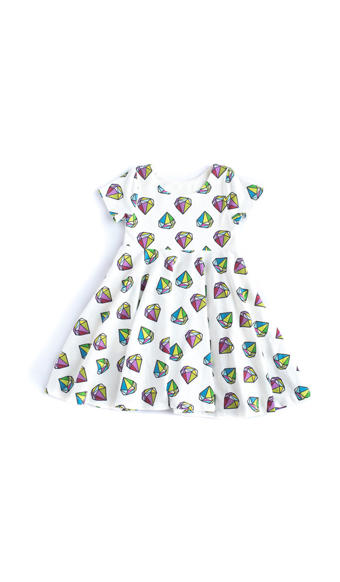 Gem Twirl Dress- Ready to Ship