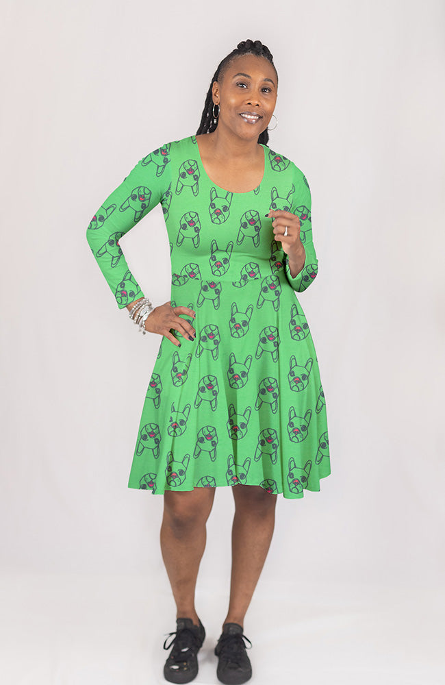 Dog Dress in Lime Pop