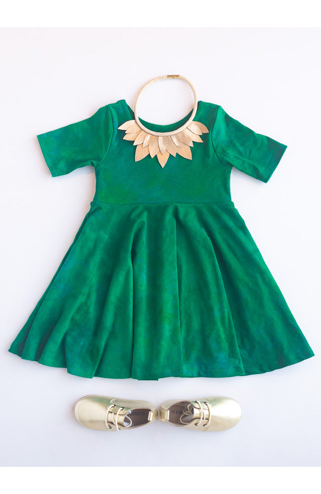 Pine Twirl Kids Dress