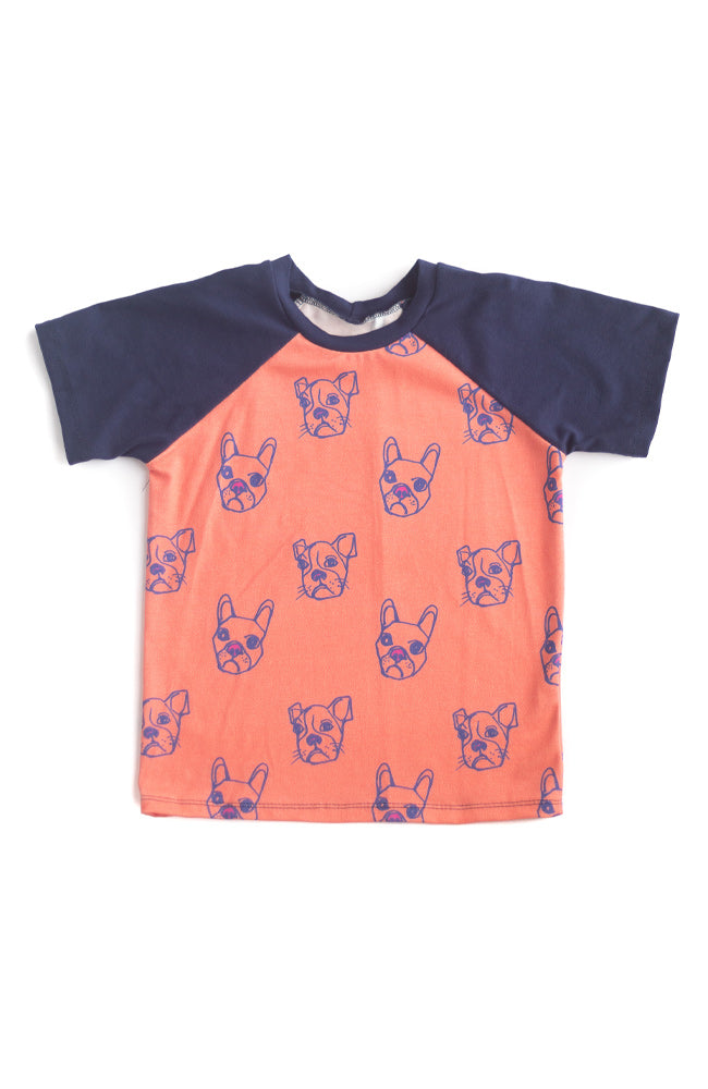 Orange & Black Silly Beasts Raglan Tee