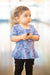 Dogs Peplum Kids Top- Ready to Ship