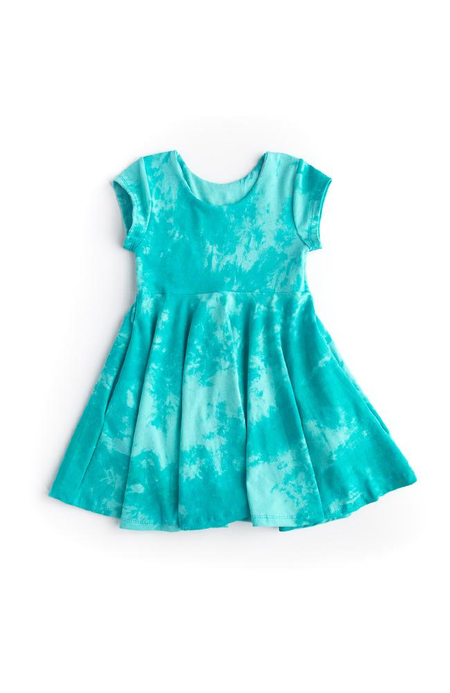 Minty Blue Twirl Dress - Ready to Ship