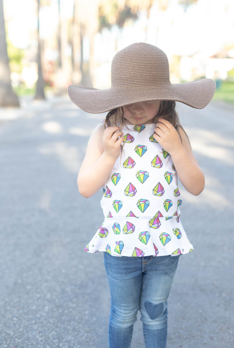 Orginial Gems Peplum Kids Top  Ready to Ship