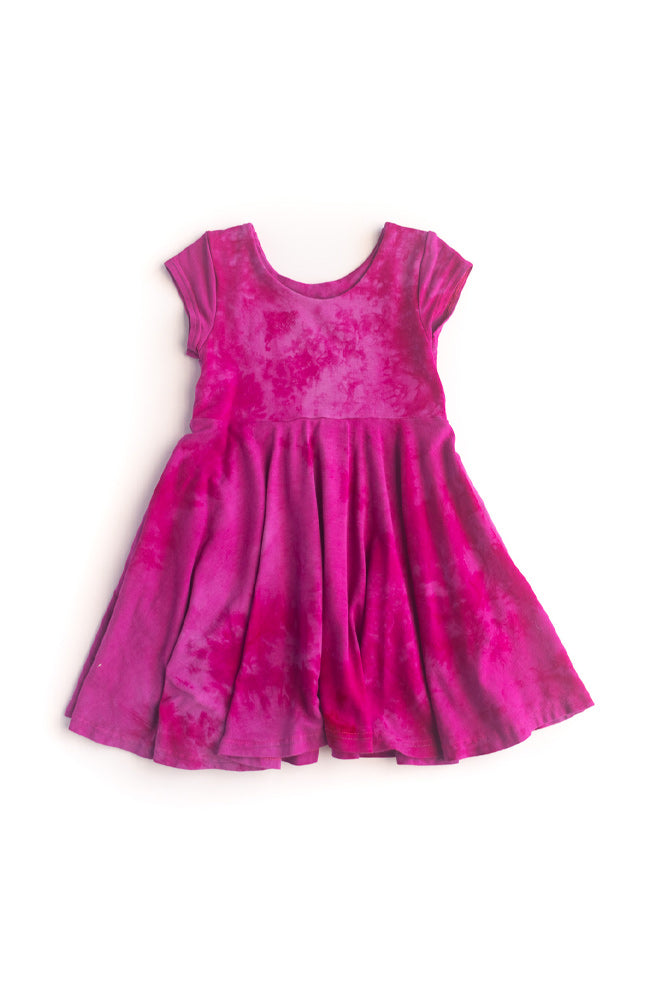 Raspberry Dragon Twirl Kids Dress
