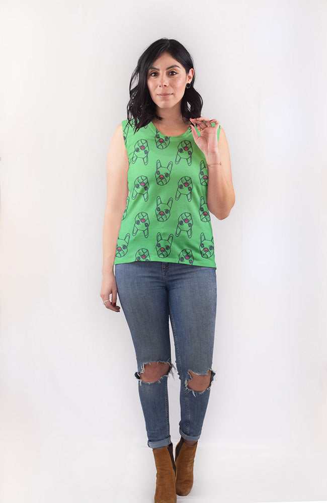Dog Tee in Lime Pop